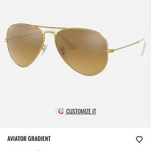 Gold Aviator Rayban Sunglasses